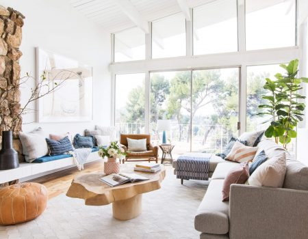 Emily-Henderson_Living-Room_Staged-To-Sell_Boho_Mid-Century_Eclectic_Blue_White_Styled_Couch_Sectional_Staged12