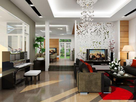 Làm vách thạch cao phòng khách giá rẻ tại Tp Hồ Chí Minh